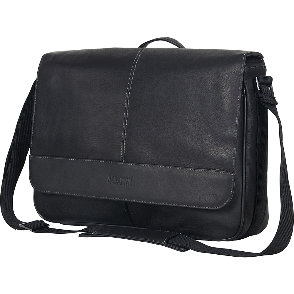 Kenneth Cole Reaction Columbian Leather Messenger Bag - Work Bags & Briefcases, Messenger Bags