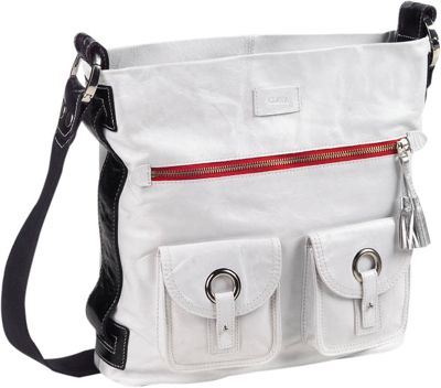 Clava Mimi Messenger Hobo - Glazed White
