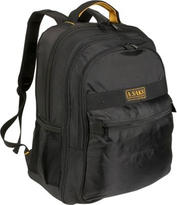 Image of A. Saks EXPANDABLE Laptop Backpack - Black