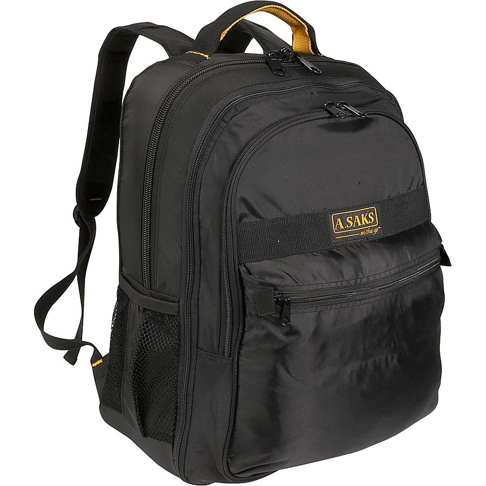 A. Saks EXPANDABLE Laptop Backpack - Black - Backpacks, Business & Laptop Backpacks