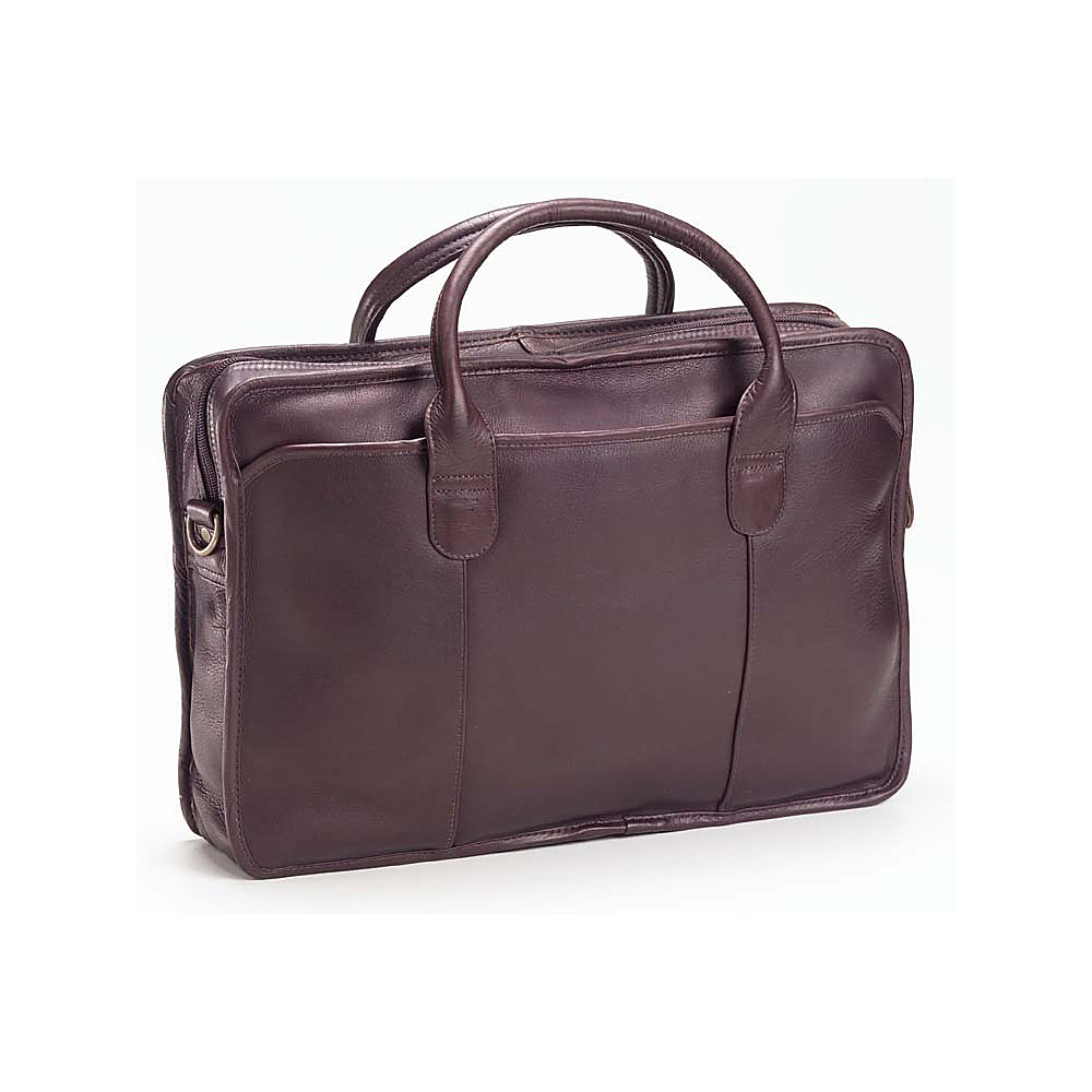 Clava Top Handle Briefcase - Vachetta Cafe - Work Bags & Briefcases, Non-Wheeled Business Cases