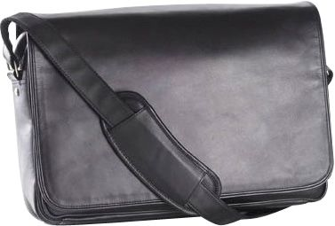 Clava Leather Laptop Mailbag / Sling - Vachetta Black