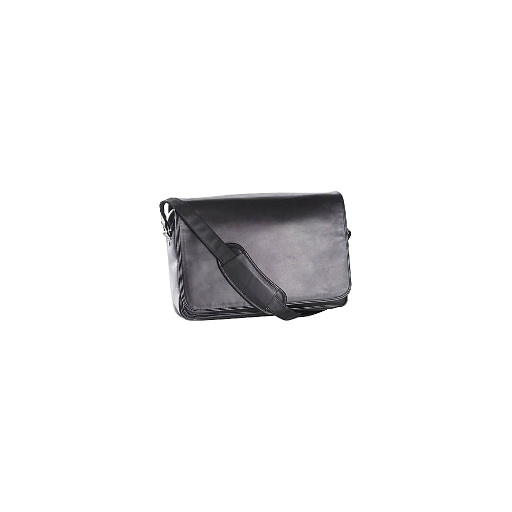 Clava Leather Laptop Mailbag / Sling - Vachetta Black - Work Bags & Briefcases, Messenger Bags