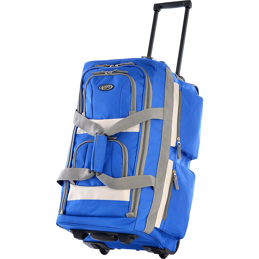 Olympia Eight Pocket 26 Rolling Duffel - Blue - Luggage, Softside Checked
