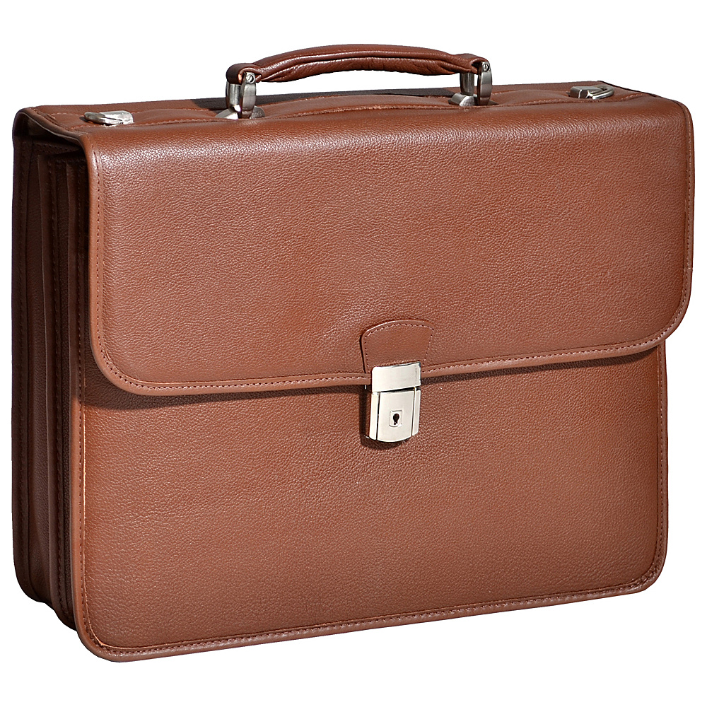 McKlein USA Ashburn Leather 15.4 Laptop Case - Cognac - Work Bags & Briefcases, Non-Wheeled Business Cases