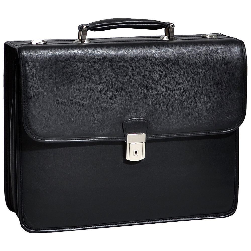 McKlein USA Ashburn Leather 15.4 Laptop Case - Black - Work Bags & Briefcases, Non-Wheeled Business Cases