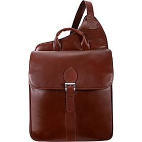 Manarola Collection Sabotino Sling Messenger Bag Cognac