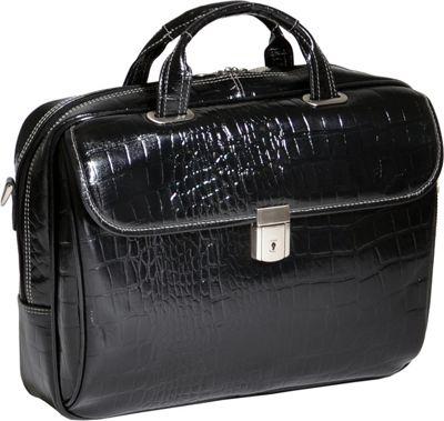 Siamod Monterosso Collection Ignoto Ladies Laptop Brief Black - Siamod Non-Wheeled Business Cases