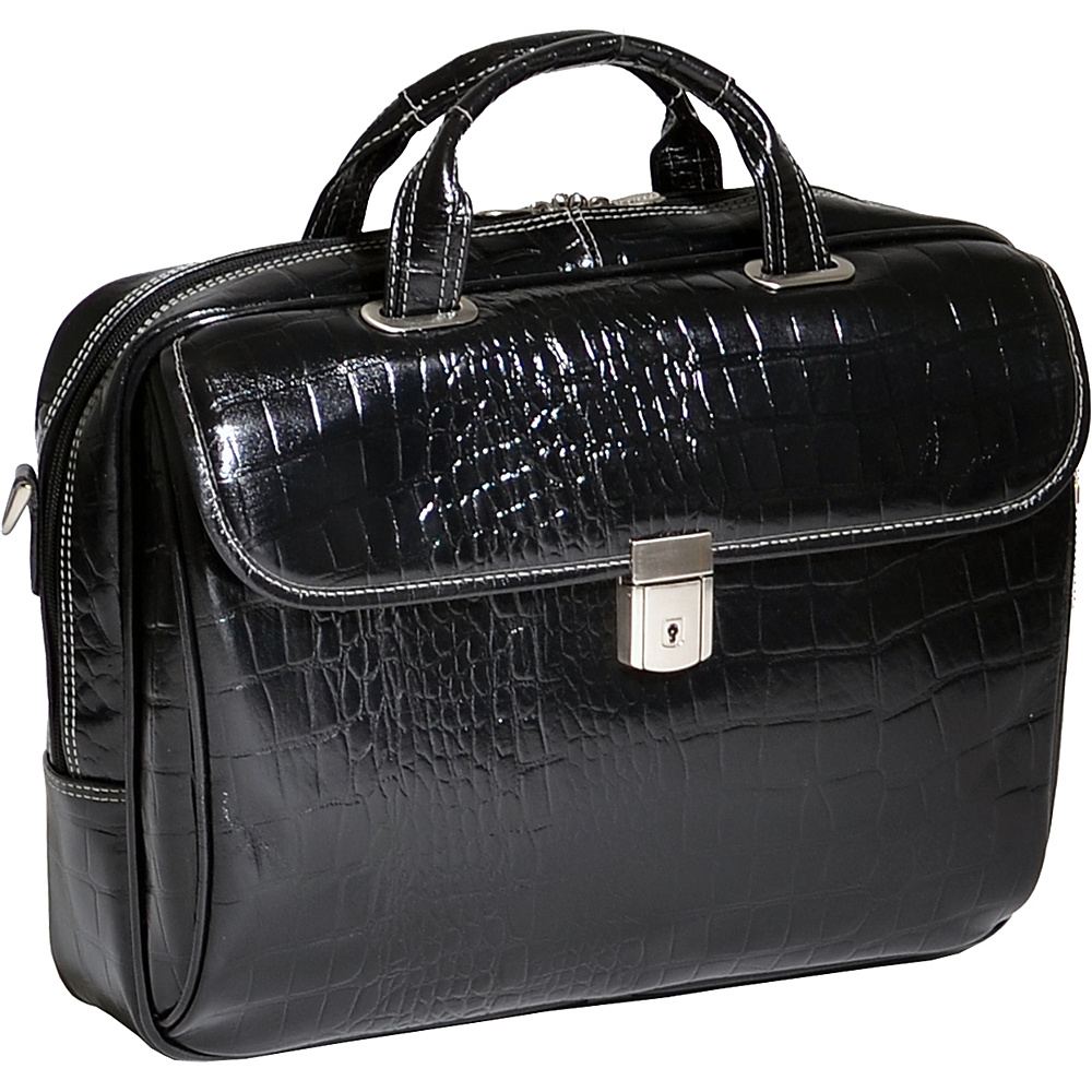 Siamod Monterosso Collection Ignoto Ladies Laptop Brief Black - Siamod Non-Wheeled Business Cases - Work Bags & Briefcases, Non-Wheeled Business Cases