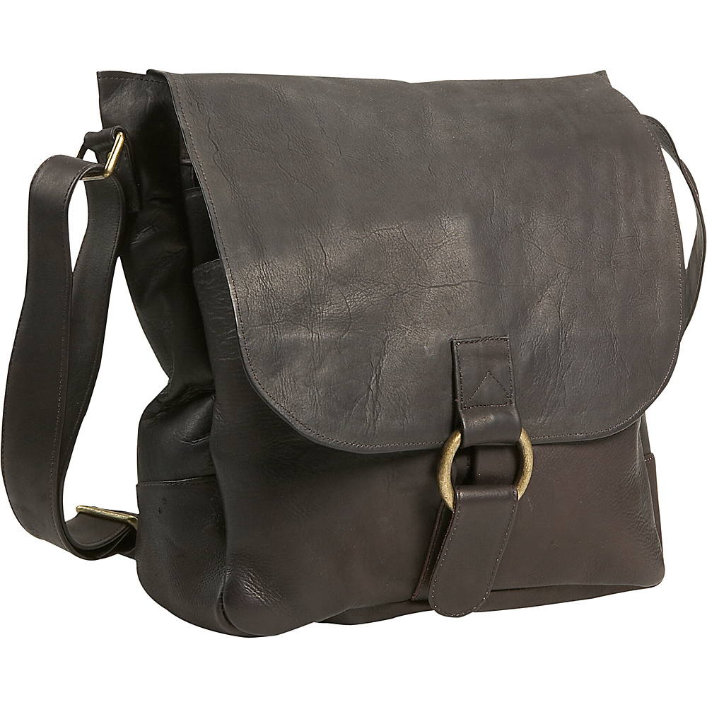 David King & Co. Vertical Laptop Messenger Cafe - David King & Co. Messenger Bags