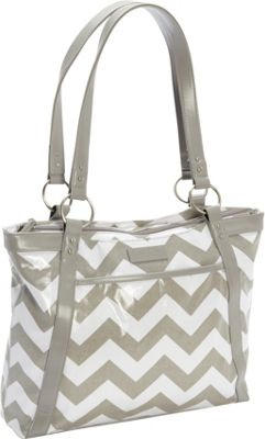 Kailo Chic Women's Casual Laptop Tote Gray Chevron - Kailo Chic Women's Business Bags