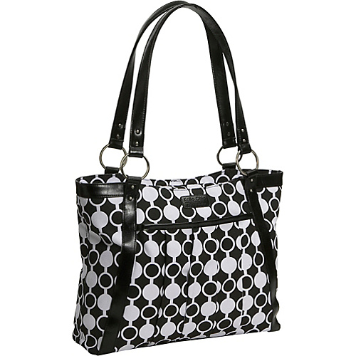 Kailo Chic Women's Pleated Laptop Tote - Mod Circles