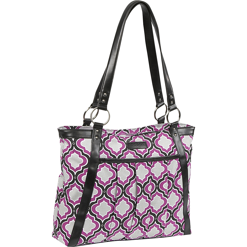 Kailo Chic Women's Pleated Laptop Tote - Purple
