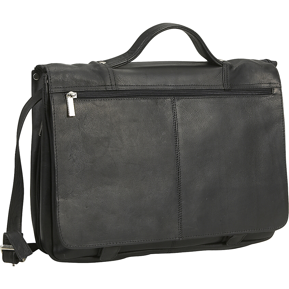 David King & Co. Expandable Briefcase Black - David King & Co. Non-Wheeled Business Cases