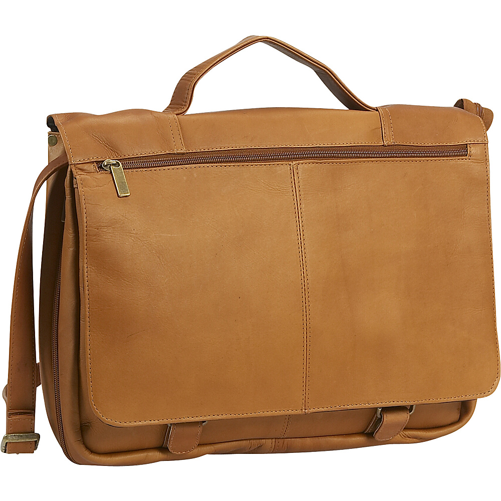 David King & Co. Expandable Briefcase Tan - David King & Co. Non-Wheeled Business Cases