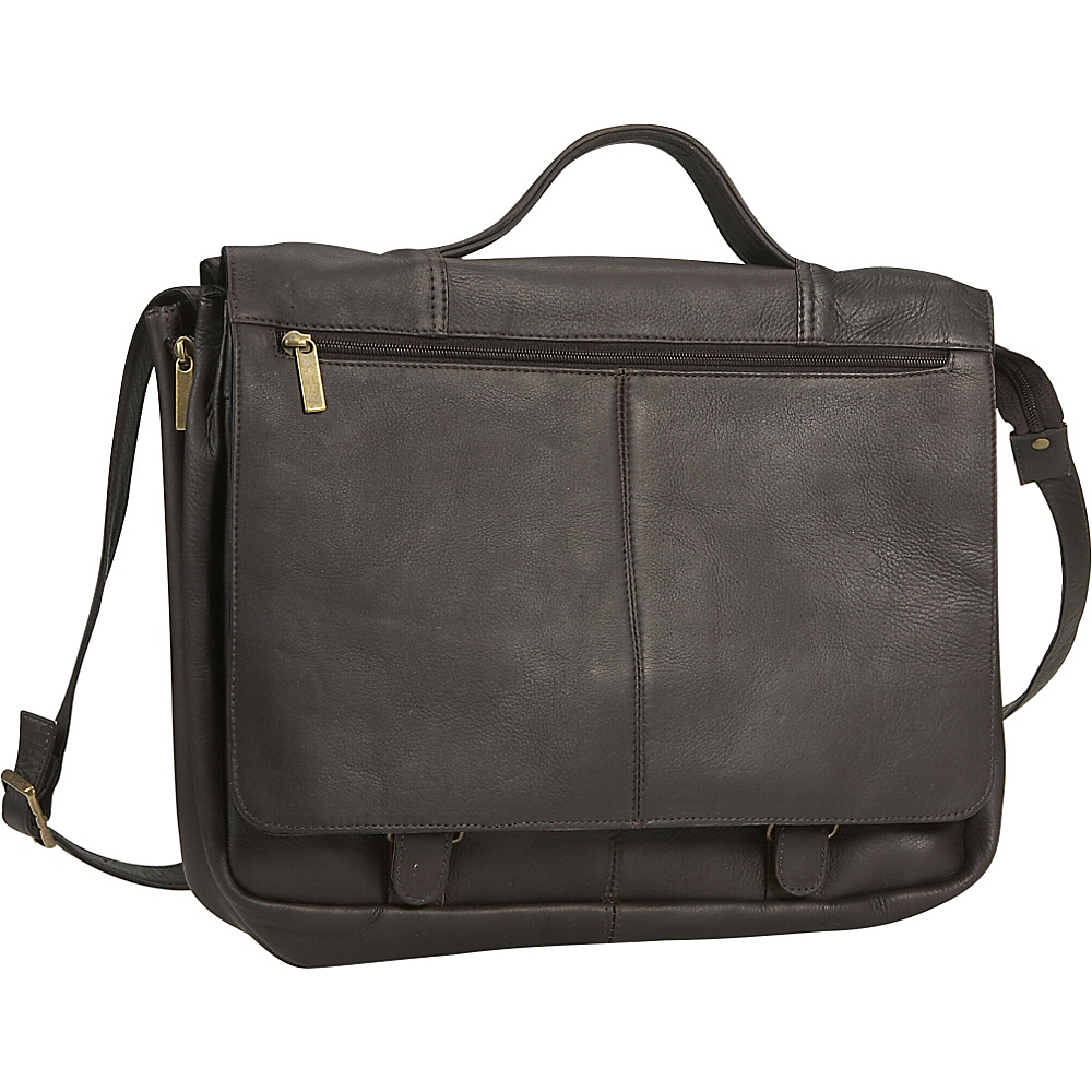 David King & Co. Expandable Briefcase - Cafe