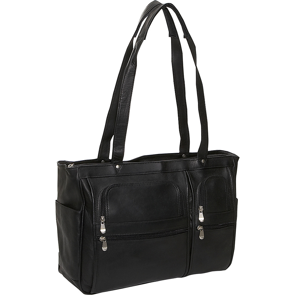 David King & Co. Womens Multipocket Laptop Briefcase Black - David King & Co. Womens Business Bags - Work Bags & Briefcases, Women's Business Bags