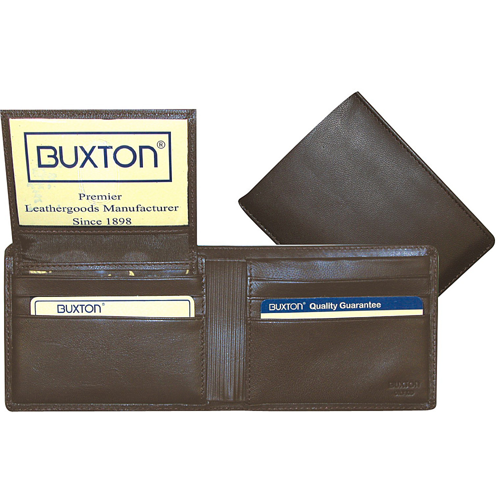 Buxton Mountaineer Credit Card Billfold Brown - Buxton Mens Wallets - Work Bags & Briefcases, Men's Wallets
