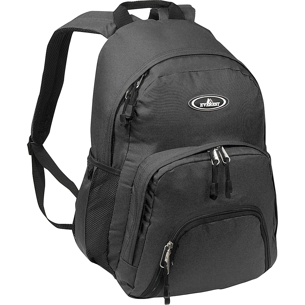 Everest Sporty Backpack - Black - Backpacks, Everyday Backpacks