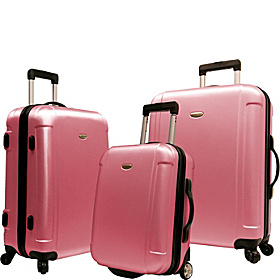 Freedom II - 3-Piece Hardside Spinner/Rolling Luggage Set Dusty Rose