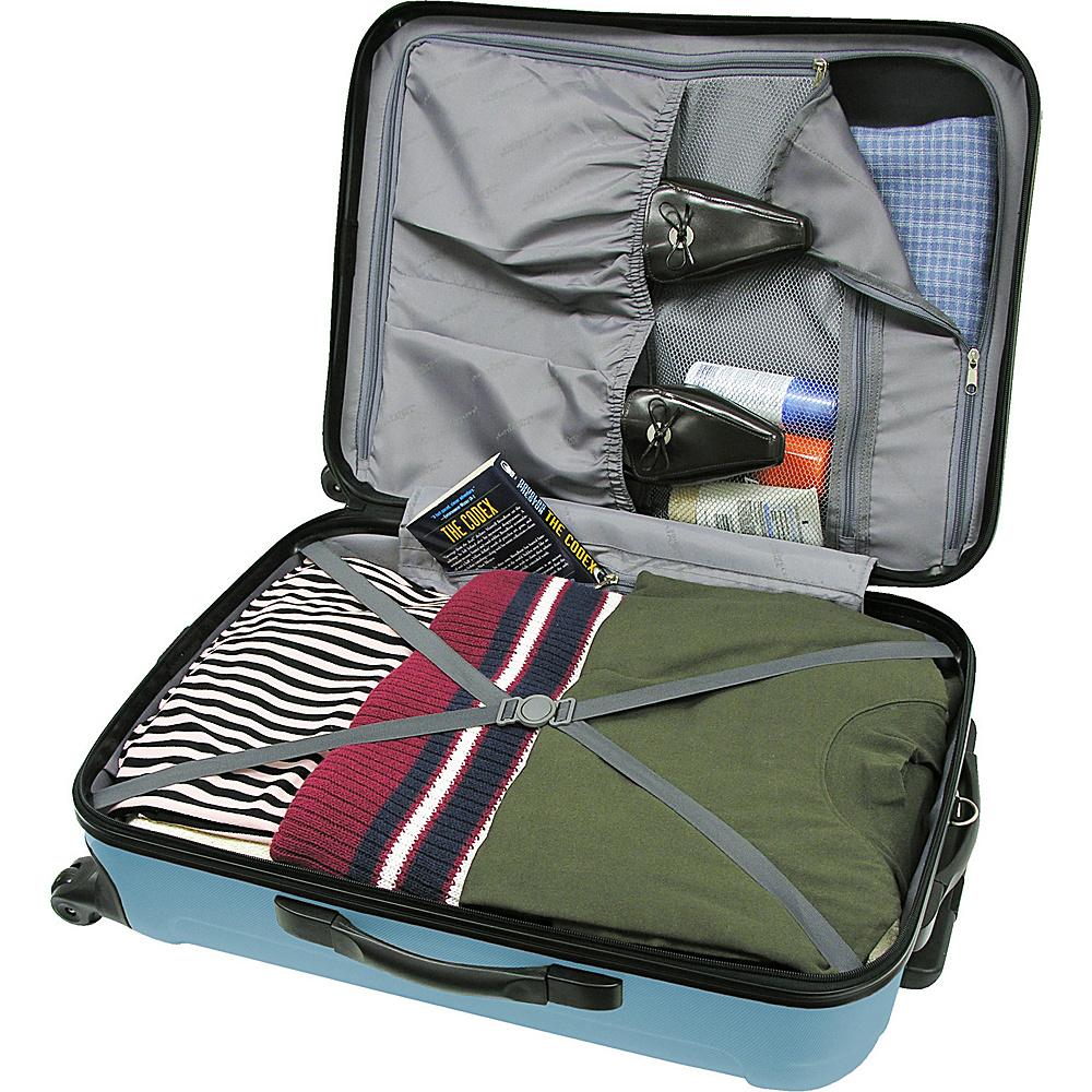 Traveler's Choice Freedom II - 3-Piece Hardside Spinner/Rolling Luggage Set Arctic Blue - Traveler's Choice Luggage Sets