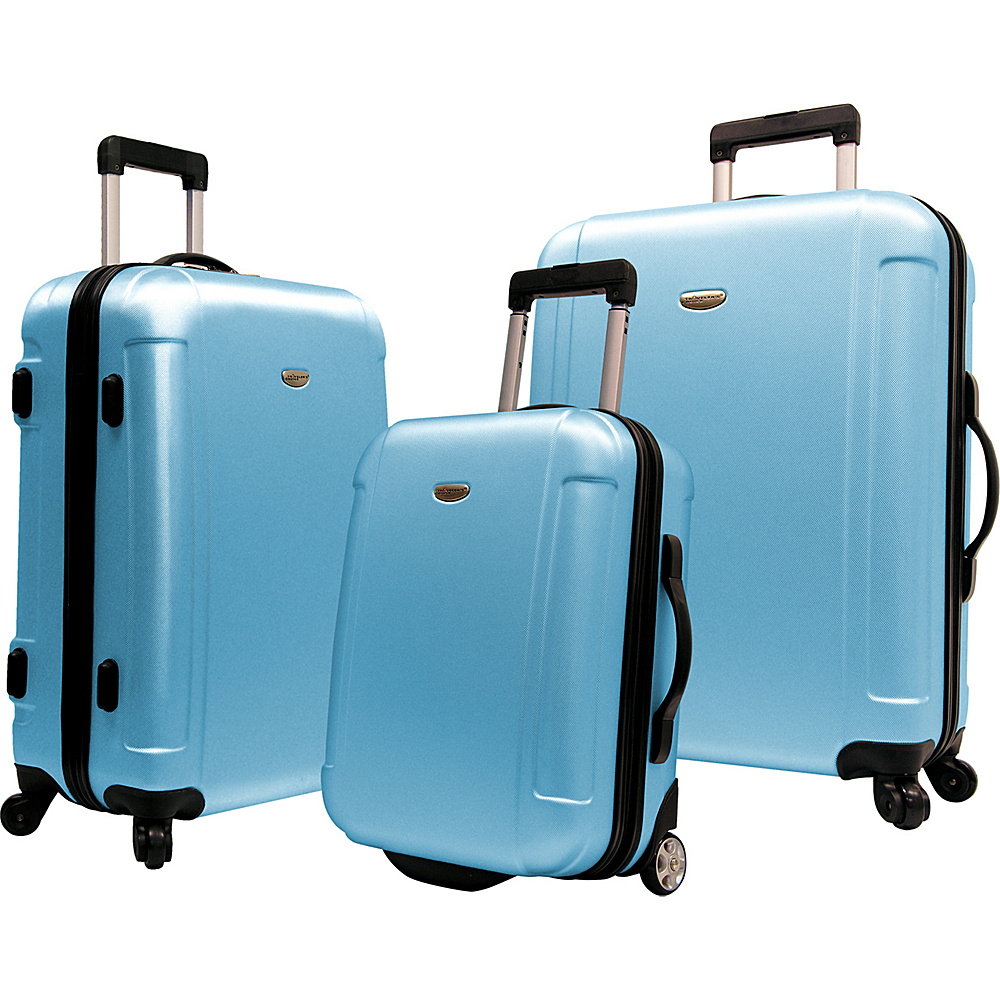 Traveler's Choice Freedom II - 3-Piece Hardside Spinner/Rolling Luggage Set Arctic Blue - Traveler's Choice Luggage Sets
