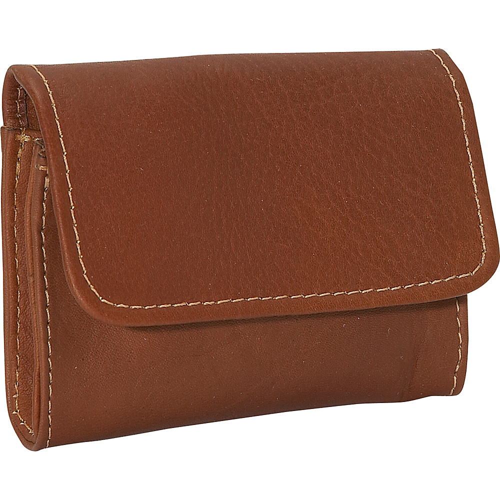 Piel Coin Credit Card/Purse - Saddle - Women's SLG, Women's Wallets