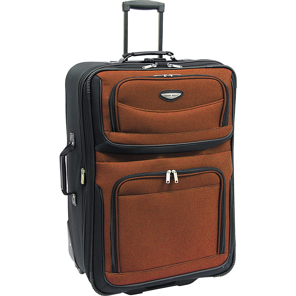 Traveler's Choice Amsterdam 29 in. Expandable Rolling Upright Orange - Traveler's Choice Softside Checked