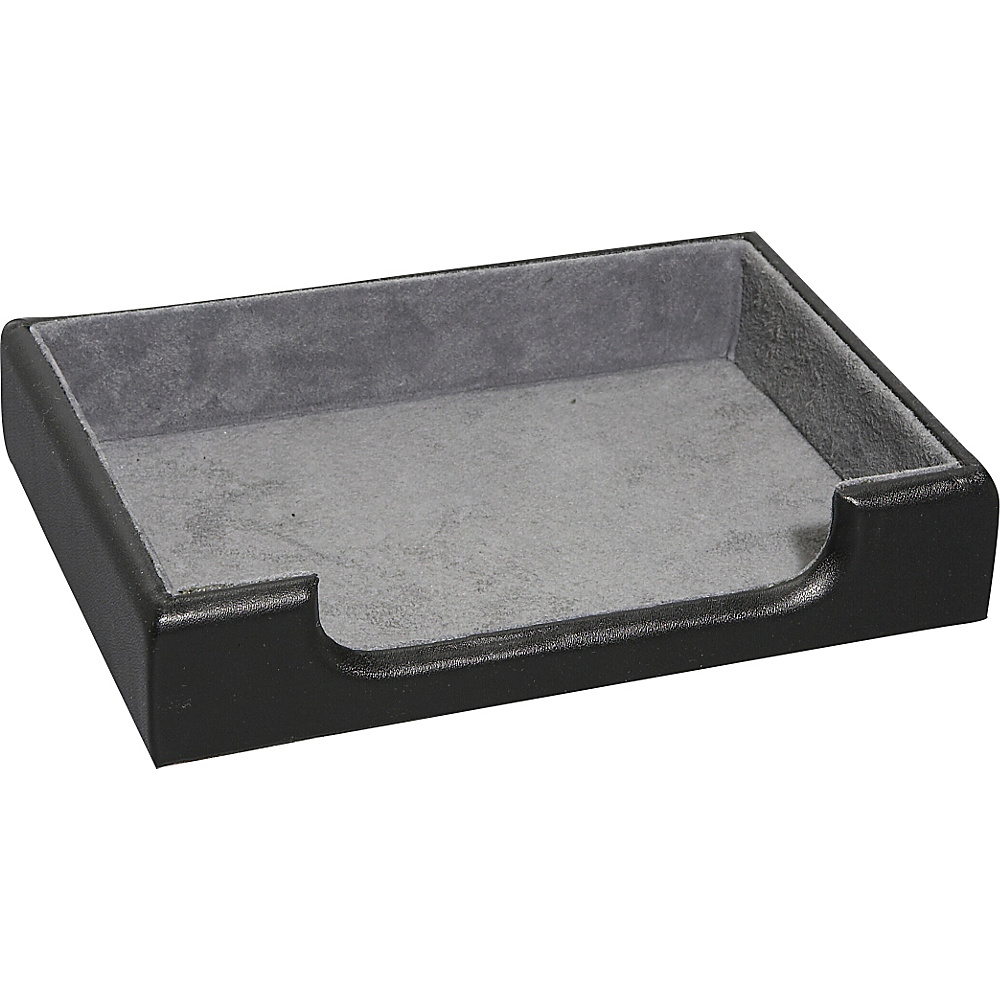 Royce Leather Desk Accessory Tray - Black - Work Bags & Briefcases, Business Accessories