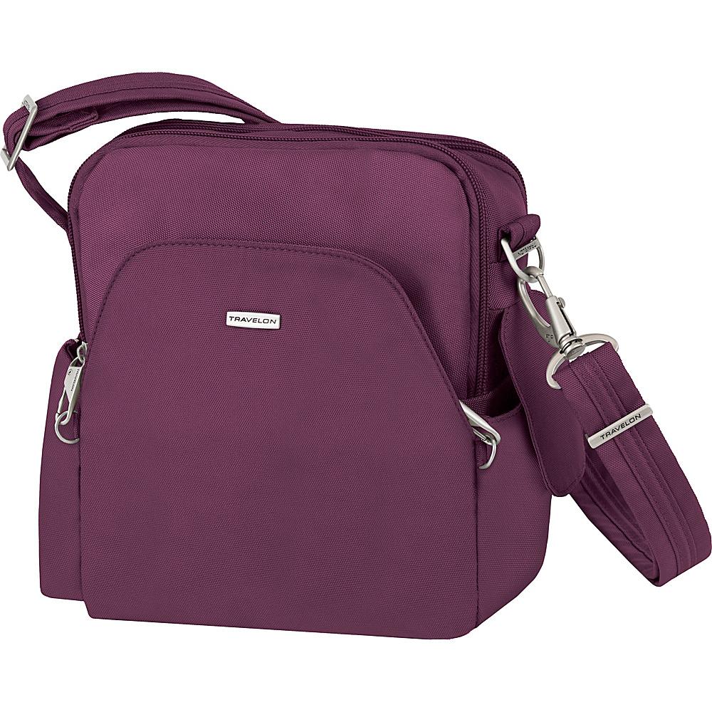 Travelon Anti-Theft Classic Travel Bag - Exclusive Colors Plum - Exclusive Color - Travelon Fabric Handbags - Handbags, Fabric Handbags