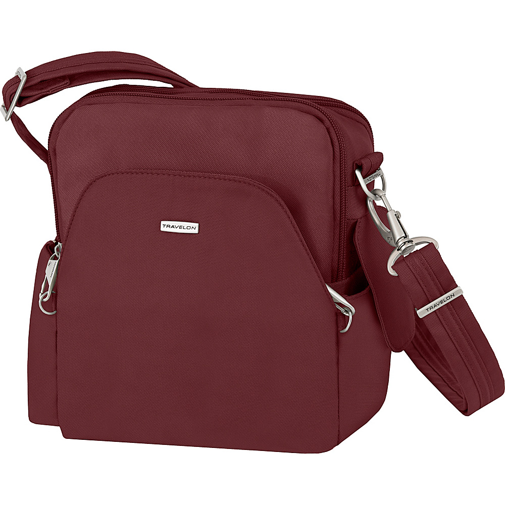 Travelon Anti-Theft Classic Travel Bag - Exclusive Colors Burgundy - Exclusive Color - Travelon Fabric Handbags - Handbags, Fabric Handbags