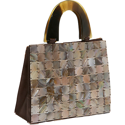Global Elements Tiled Mother of Pearl Handbag - Clutch