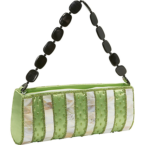 Global Elements Striped Shell & Silk Handbag - Clutch