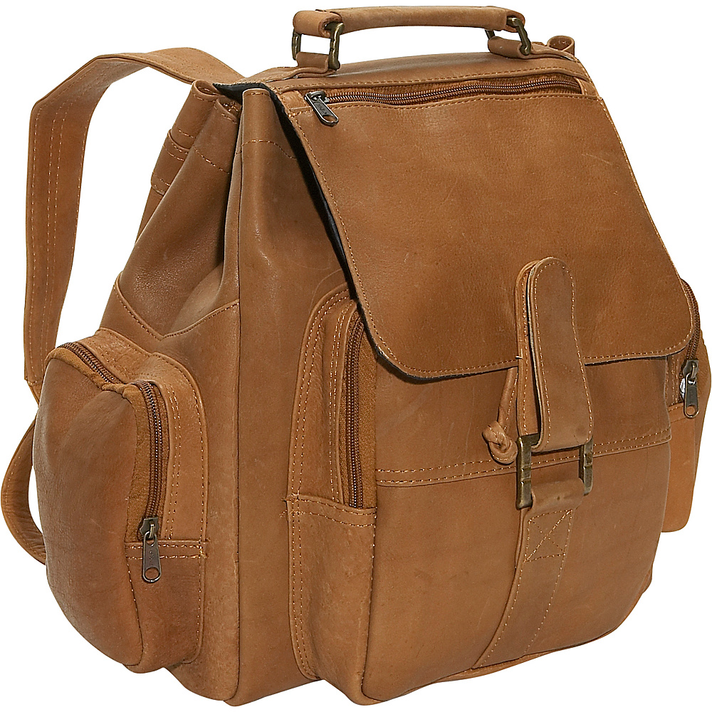 David King & Co. Top Handle Backpack - Tan - Handbags, Manmade Handbags