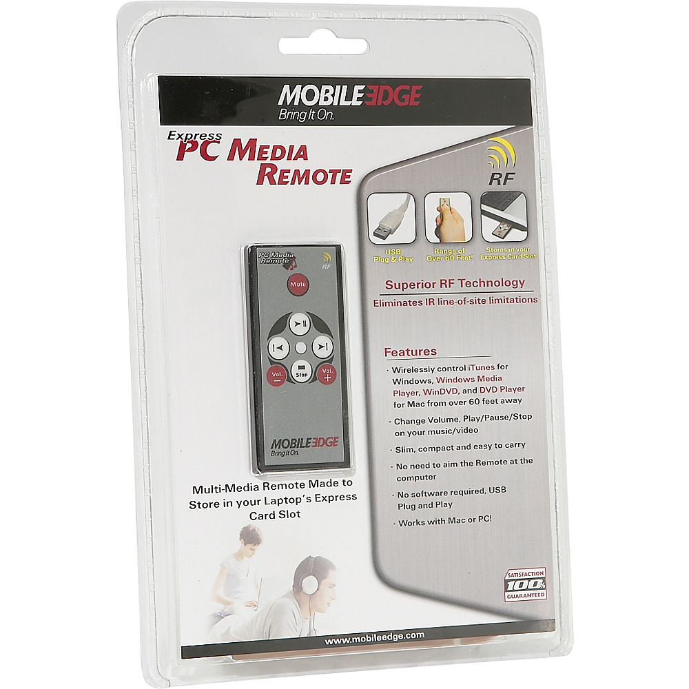 Mobile Edge Wireless Express PC Media Remote Black