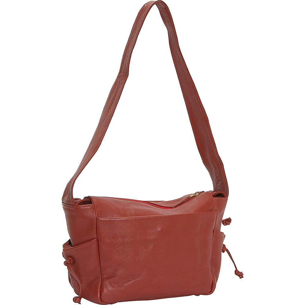J.P. Ourse & Cie. Open Trails Petite Berry Red - J.P. Ourse & Cie. Leather Handbags