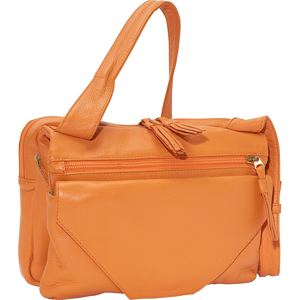 J. P. Ourse & Cie. Mega Bag - Tangerine - Handbags, Leather Handbags