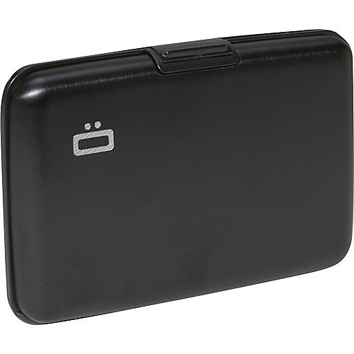 Ogon RFID Aluminum Small Ribbed Wallet - Black