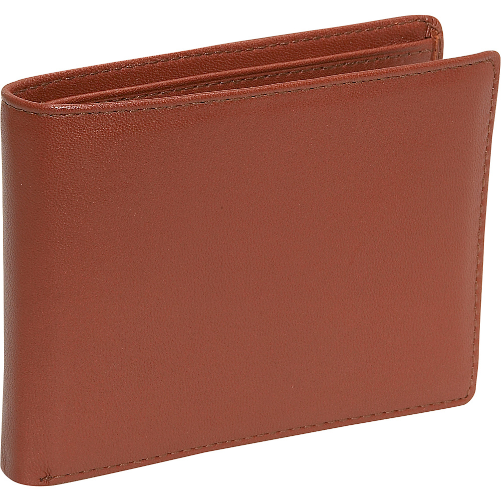 Budd Leather Cowhide Leather Slim Wallet w Passcase