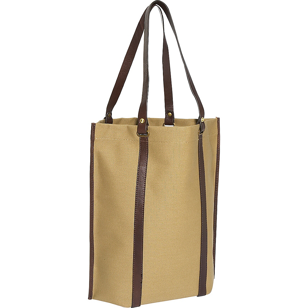 Clava Eco Chic Canvas Roll Up Tote Khaki Canvas