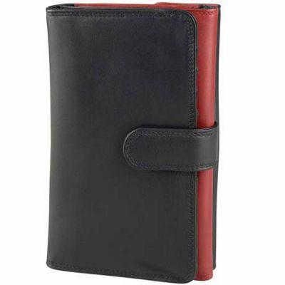 Derek Alexander Ladies Trifold Wallet Black - Derek Alexander Ladies Clutch Wallets
