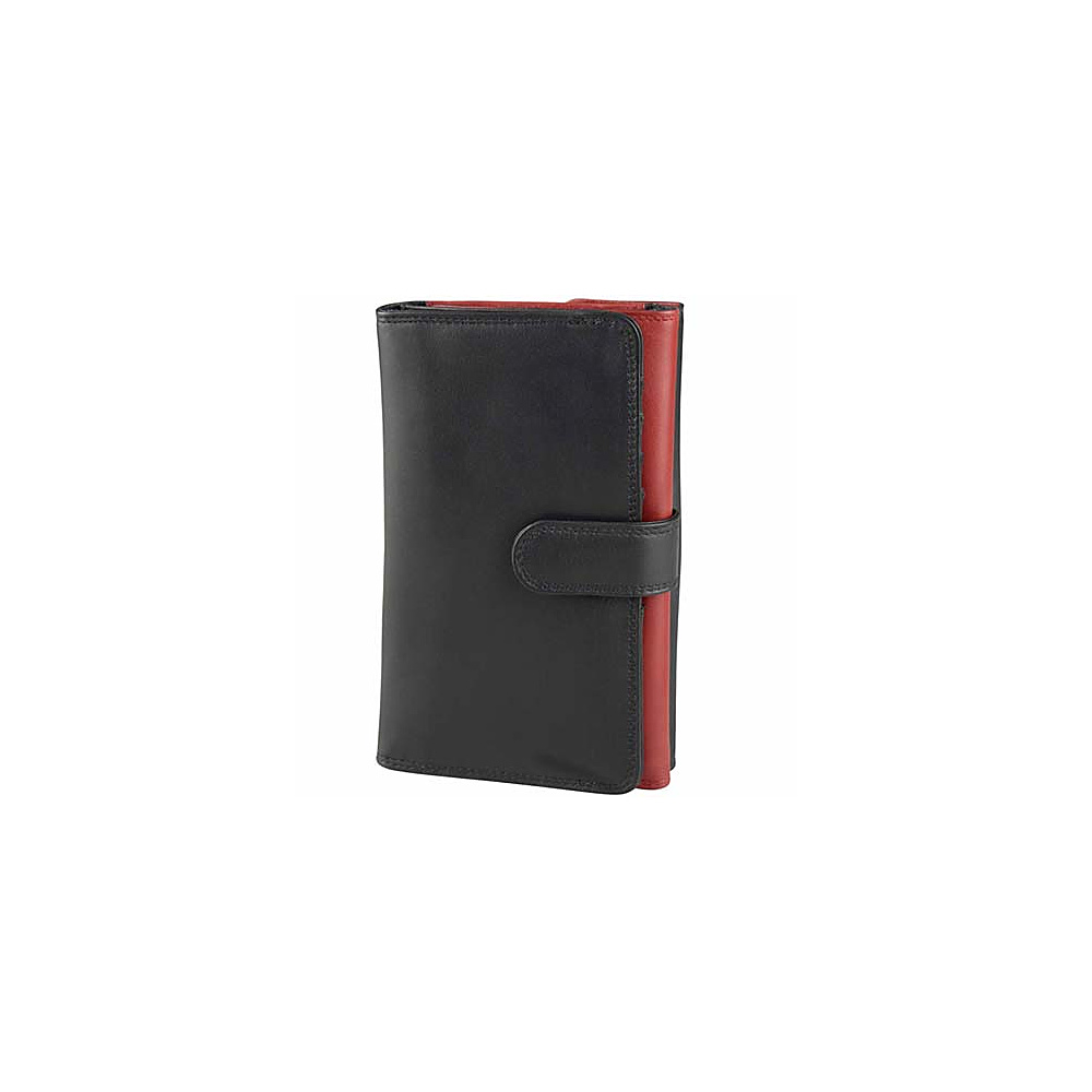 Derek Alexander Ladies Trifold Wallet - Black/Red - Women's SLG, Women's Wallets