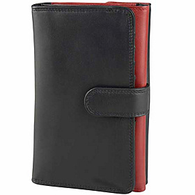 Ladies Trifold Wallet Black/Red