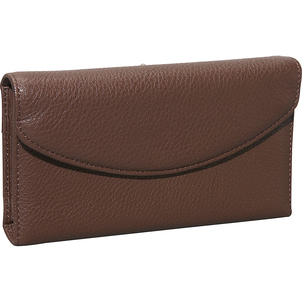 Dopp Roma Check Clutch Chocolate Brown
