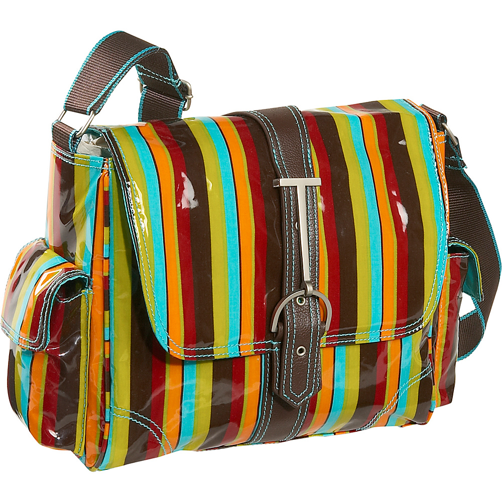 Hadaki Multitasker Print Small - Multi Colored Stripes - Work Bags & Briefcases, Messenger Bags