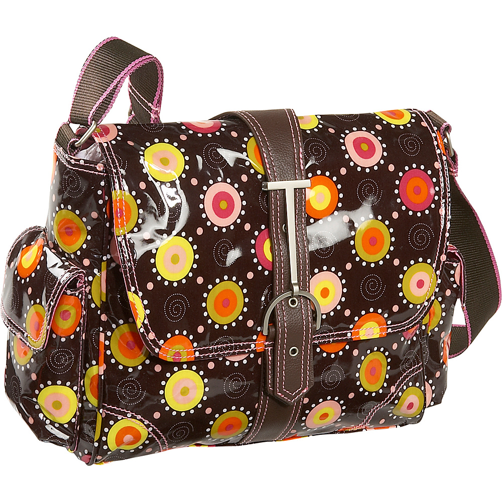 Hadaki Multitasker Print Small - Chocolate/Pink - Work Bags & Briefcases, Messenger Bags