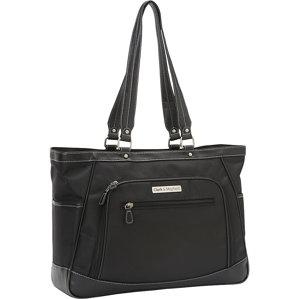 Clark Mayfield Sellwood XL Laptop Tote 17.3 Black Clark Mayfield Women s Business Bags