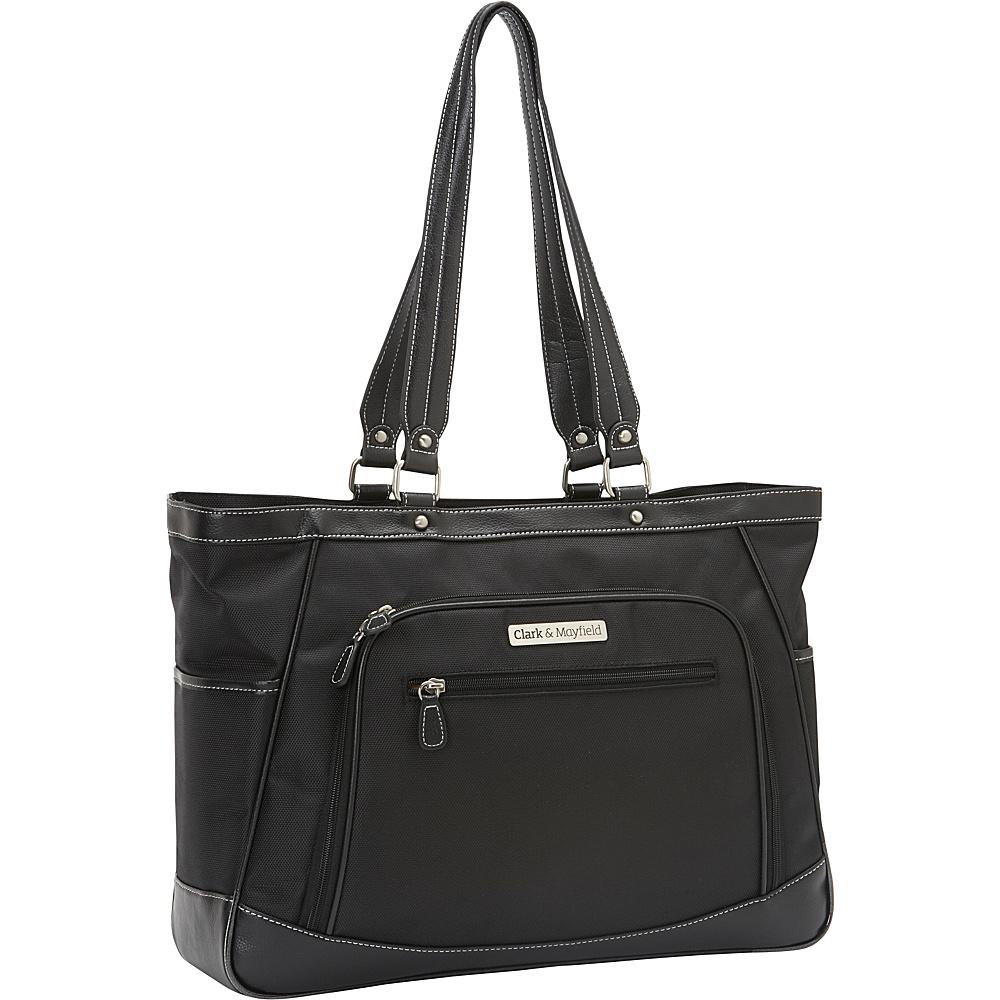 Clark Mayfield Sellwood XL Laptop Tote 17.3 Black Clark Mayfield Women s Business Bags