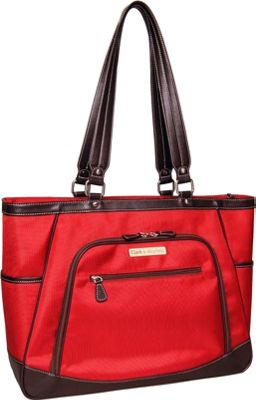 Clark & Mayfield Sellwood XL Laptop Tote 17.3 inch Red - Clark & Mayfield Women's Business Bags
