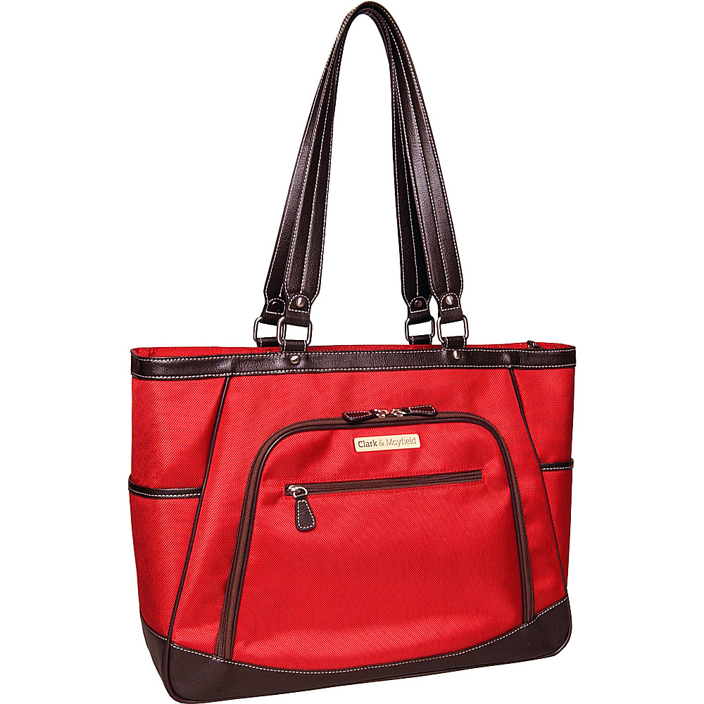 Clark Mayfield Sellwood XL Laptop Tote 17.3 Red Clark Mayfield Women s Business Bags